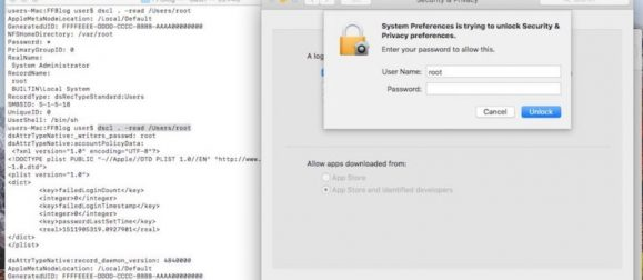 OS X Root Vulnerability
